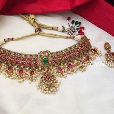 Madhurini Akula (@madhuriniakula) • Instagram photos and videos Gold Bangles Design, Gold Jewellery Design, Gold Jewelry, Jewelery, Indian Jewelry Sets, Indian Wedding Jewelry, Bridal Jewellery Inspiration, Fashion Jewelry, Women's Fashion