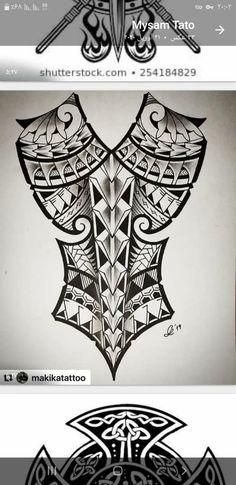 Polynesian Tattoo Designs, Maori Tattoo Designs, Black Ink Tattoos, Tribal Tattoos, Nape Tattoo, Geometric Tattoo Design, Hybrid Design, Samurai Tattoo, Sharpie Art