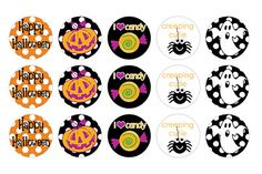 Free Halloween BottleCap images  Too cute!! And of course the best holiday ever!!! ( only bc it's my bday!!)