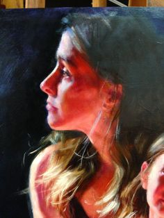 Self Portrait (detail of Mother-Daughter Painting) by Kristina Laurendi Havens