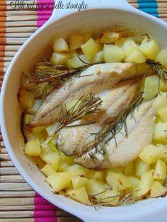 pesce, sgombro, patate, secondi piatti