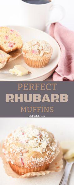 PERFECT RHUBARB MUFFINS