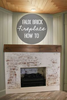 May 2020 - This fireplace looks so real - yet it was so simple to build! Here's how to build a faux fireplace in a corner (with German schmear brick). Also we built a faux reclaimed wood mantle. A corner fireplace can look great and here's how. Decor, Brick Fireplace, Corner Fireplace, Affordable Home Decor, Home Decor, Door Makeover, Faux Brick Panels, Fireplace, Faux Fireplace