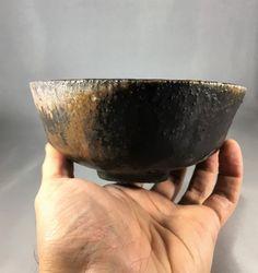 Hikidashi-guro matcha chawan Japanese teabowl by ofthedirtpottery