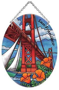Golden Gate Bridge Stained Glass Suncatcher