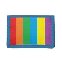 """Rainbow Stripes"" Wallet - accessories accessory gift idea stylish unique custom"