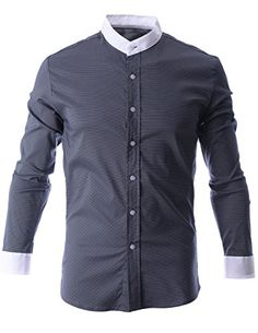 FLATSEVEN Mens Mini Check Plaid Mandarin Collar Button Down Shirt (SH1015) Black, XL FLATSEVEN http://www.amazon.com/dp/B00N4RUBVO/ref=cm_sw_r_pi_dp_bsl0ub1PFDZS0 #Casual shirts #men #fashion #FLATSEVEN     #shirts