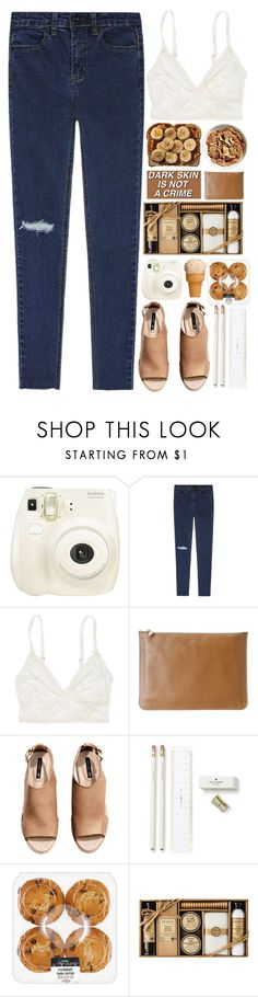 """peanutbutttteerrr"" by puhizaxox ❤ liked on Polyvore featuring Fujifilm, American Eagle Outfitters, Alexander McQueen, H&M, Kate Spade and Urban Hydration"