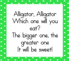 We just finished teaching greater than, less than, and equal to this past week. We used this chant   We also made cute little alligators wit...