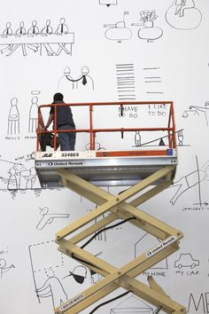 Dan Perjovschi at Kaufmann Repetto #art
