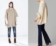Los ponchos de lana, algodón y otros tejidos son una tendencia imprescindible de este otoño invierno 2014 2015. Sobre todo cuando son de inspiración étnica, con estampados geométricos y flecos.