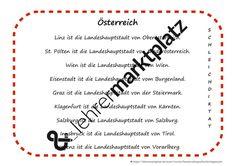 Österreich - Schleichdiktat – Unterrichtsmaterial im Fach Deutsch Klagenfurt, Salzburg, Bullet Journal, Bregenz, Linz, Teaching Materials, Teachers, Deutsch