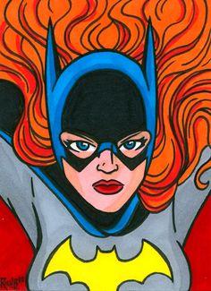 Sketchcard Batgirl by *RichBernatovech on deviantART