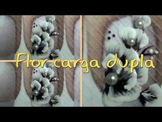 Flor carga dupla com pérola - Passo a passo - YouTube
