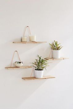 Trendy Home Office Shelves Decor Wall Colors Ideas Diy Wand, Diy Bedroom Decor, Diy Home Decor, Wood Pallet Recycling, Small Craft Rooms, Diy Regal, Diy Art Projects, Plant Shelves, Wall Shelves