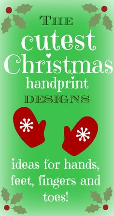 Do you take a handprint of your kids each year? I love it as a way of charting them growing up. Lots of super cute handprint crafts here - Father Christmas, snowmen, reindeer, angels...love them!