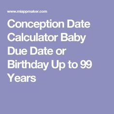 Conception dating