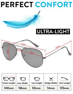 1c5c592fe Pilot Polarised Sunglasses for Mens and Womens Silver / Blue Mirror Lens