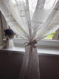 Lovely linen curtain. www.sashe.sk/shabby.romantic  Ľanová záclonka Poeme