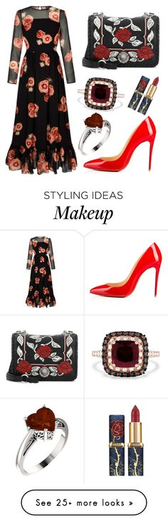 """Untitled #93"" by nejrica2002 on Polyvore featuring Christian Louboutin, Miu Miu and Effy Jewelry"