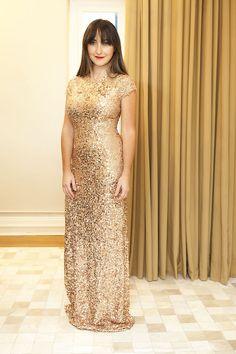 vestido de festa dourado para madrinha