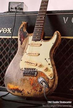 1961 Fender Stratocaster....Rory Gallagher's famous battered strat
