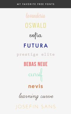 my favorite free fonts + more typeface resources!   Earl Grey Blog