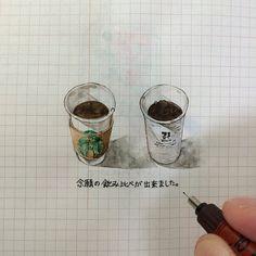 ha_ss 141002 #ほぼ日手帳 #hobonichi #イラスト #illust #スタバ #ドリップコーヒー #すっきりめ ... | Use Instagram online! Websta is the Best Instagram Web Viewer! Food Illustrations, Illustration Art, Watercolor Food, Food Painting, Chalk Art, Travelers Notebook, Inktober, Food Art, Doodles