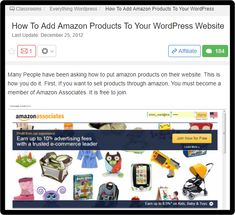 Learn How To Add Amazon Products To Your WordPress Website And Make Earn Regular Commissions Amazon Products, Wordpress, Spirituality, Classroom, Ads, Website, Learning, How To Make, Class Room