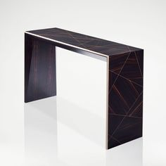 The Henley Macassar Console is a striking piece of furniture featuring Macassar ebony veneers purposefully laid into the design in different directions creating a geometric pattern. Bespoke Furniture, Luxury Furniture, Furniture Design, Hall Console Table, Bespoke Design, Chair Upholstery, Dining Furniture, Bedroom Furniture, Entryway Decor