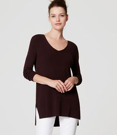 Image of Tunic Sweater color Soft Fig