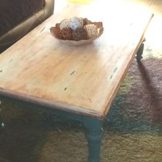 Painted and distressed coffee table