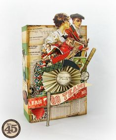 Good ol' Sport altered box made of chipboard by Alberto! Don't you love this altered art piece? #graphic45