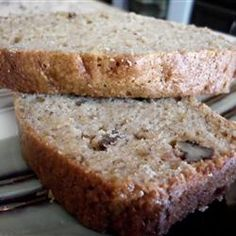 Best Zucchini Bread recipe...May not be the healthiest but so moist!  I added 1/4 cup cocoa powder.