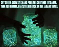 Glowstick Jars