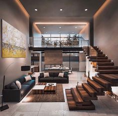 Modern architecture house design with minimalist style and luxury exterior and interior and using the perfect lighting style is inspiration for villas mansions penthouses
