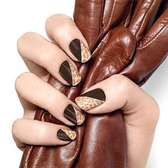 geometric nail art in beguiling black coffee re-defines what it means to show some skin.