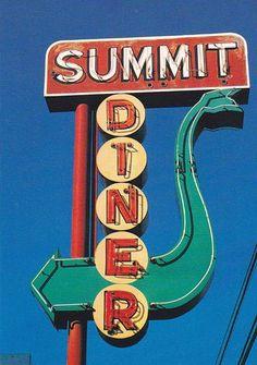 Summit Diner sign.