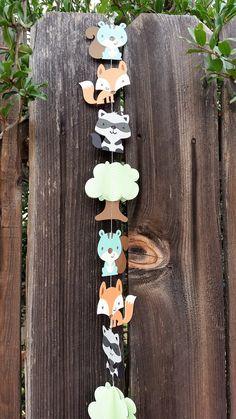 Woodland animals paper garland/baby shower garland/birthday party garland/nursery decoration by PaperMyLife on Etsy