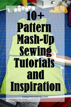 Take two patterns and make something new. Great diy sewing mash-ups - Rae Gun Ramblings