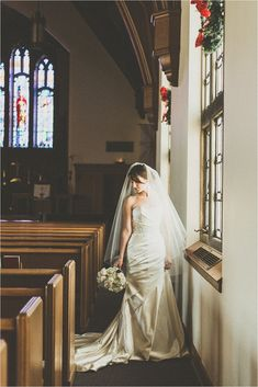 Beautiful church wedding photo; my church is not nearly as beautiful as this one but we might be able to recreate