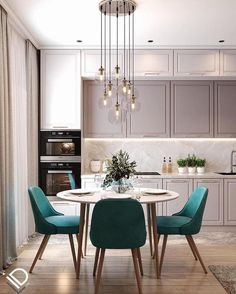 Modern Kitchen Interiors, Luxury Kitchen Design, Kitchen Room Design, Home Room Design, Kitchen Cabinet Design, Dining Room Design, Home Decor Kitchen, Interior Design Living Room, Home Kitchens