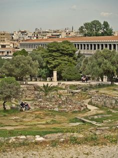 Inside the Ancient Agora, the biggest archaeological site in the city of Athens. (Walking Athens, Route 03 - Psiri / Monastiraki)