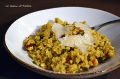 Les recettes de Nathou: Risotto au curry de Delhaize (produit-test)