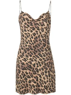 SPOTTED LEOPARD DARK TAN Harmony leopard slip dress from Alice + Olivia featuring spaghetti straps, a draped neckline and a cowl neck. Alice Olivia, Skirt Outfits, Cool Outfits, Dress Png, Tweed, Cheetah Dress, Girl Fashion, Fashion Design, Designing Women