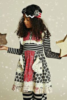 Mustard Pie Holiday Scrappy Ramona Dress PREORDER