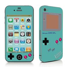 Gameboy- iPhone Cover iPhone Sticker iPhone Decal iPhone Skin For iPhone 4 iPhone 4s