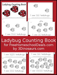 Free Ladybug Counting Book - s - 3Dinosaurs.com