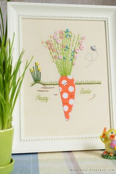 Happy Easter carrot stitchery
