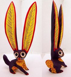 Tanner Chaney : Oaxacan Wood Carvings Arsenio Morales Rabbits C884